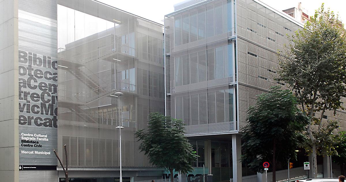Proyectos Ángel García Mataró Biblioteca sagrada família