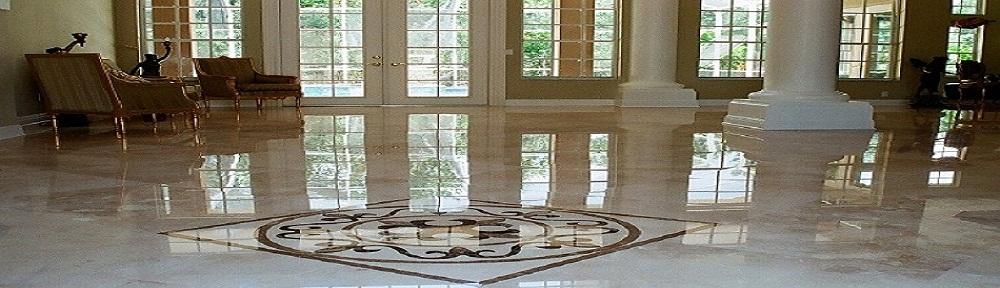 Pavimentos, suelo de mármol con cenefa